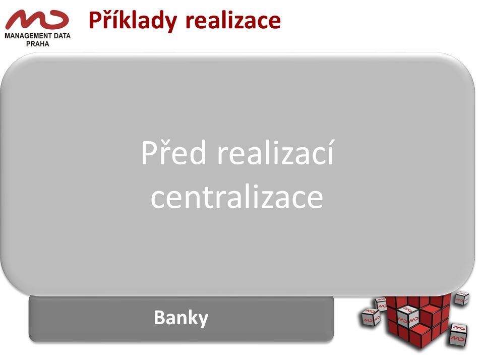 Před realizací centralizace Příklady realizace Banky Centrála DEPO A
