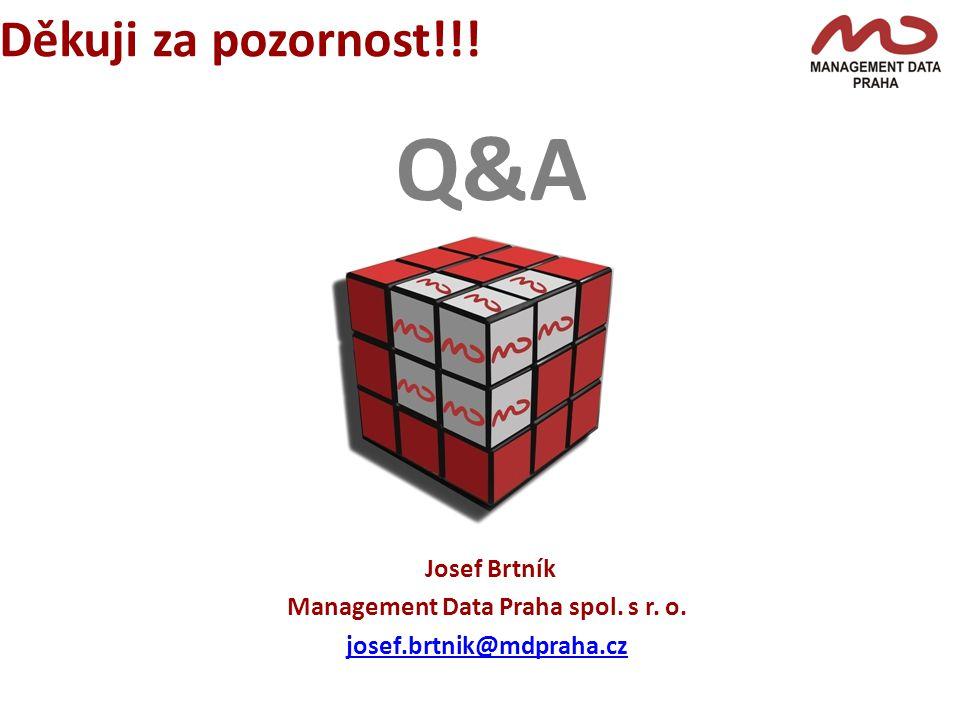 Q&A Děkuji za pozornost!!!