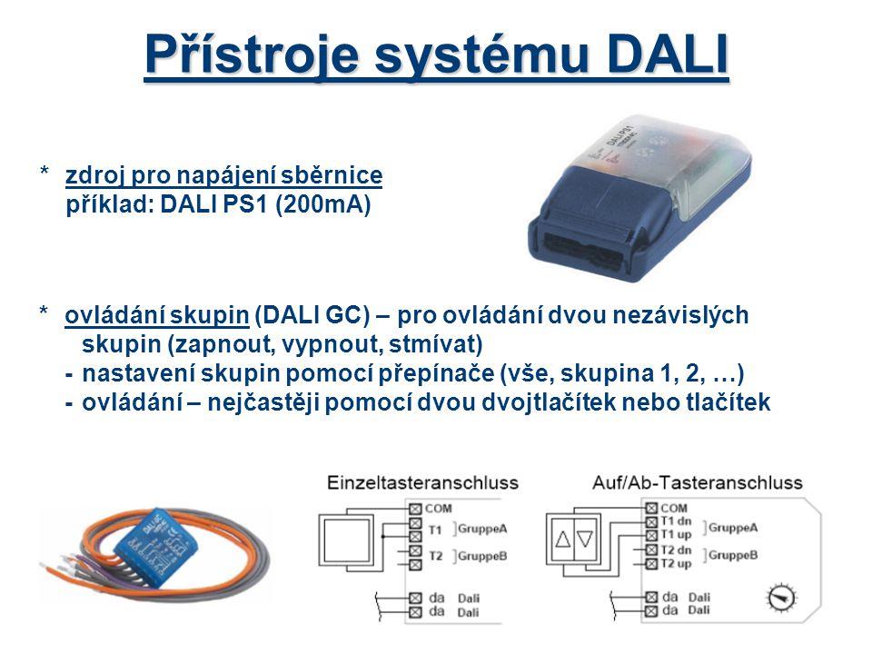 Přístroje systému DALI