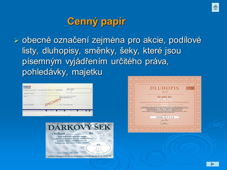 Cenný papír