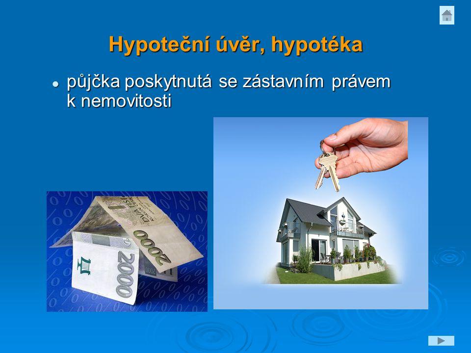 Hypoteční úvěr, hypotéka