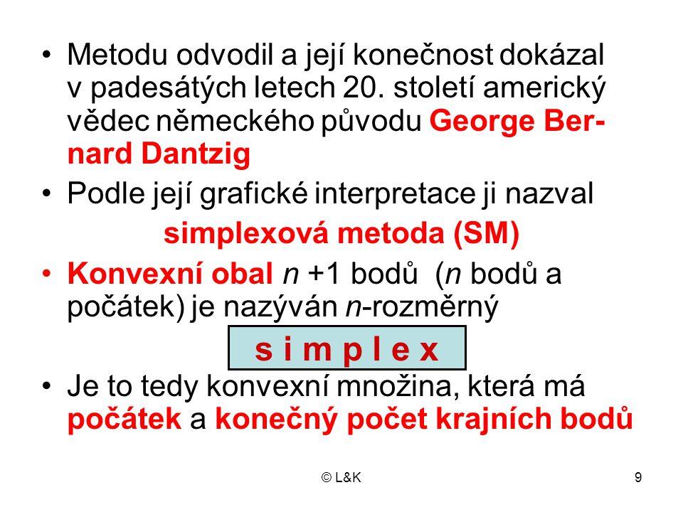 simplexová metoda (SM)