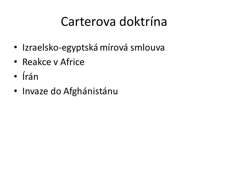 Carterova doktrína Izraelsko-egyptská mírová smlouva Reakce v Africe