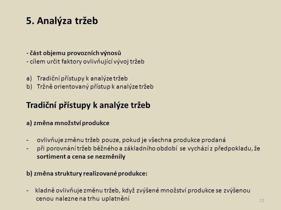 5. Analýza tržeb část objemu provozních výnosů