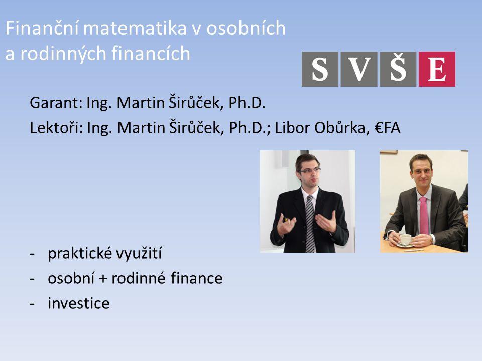 Finanční matematika v osobních a rodinných financích