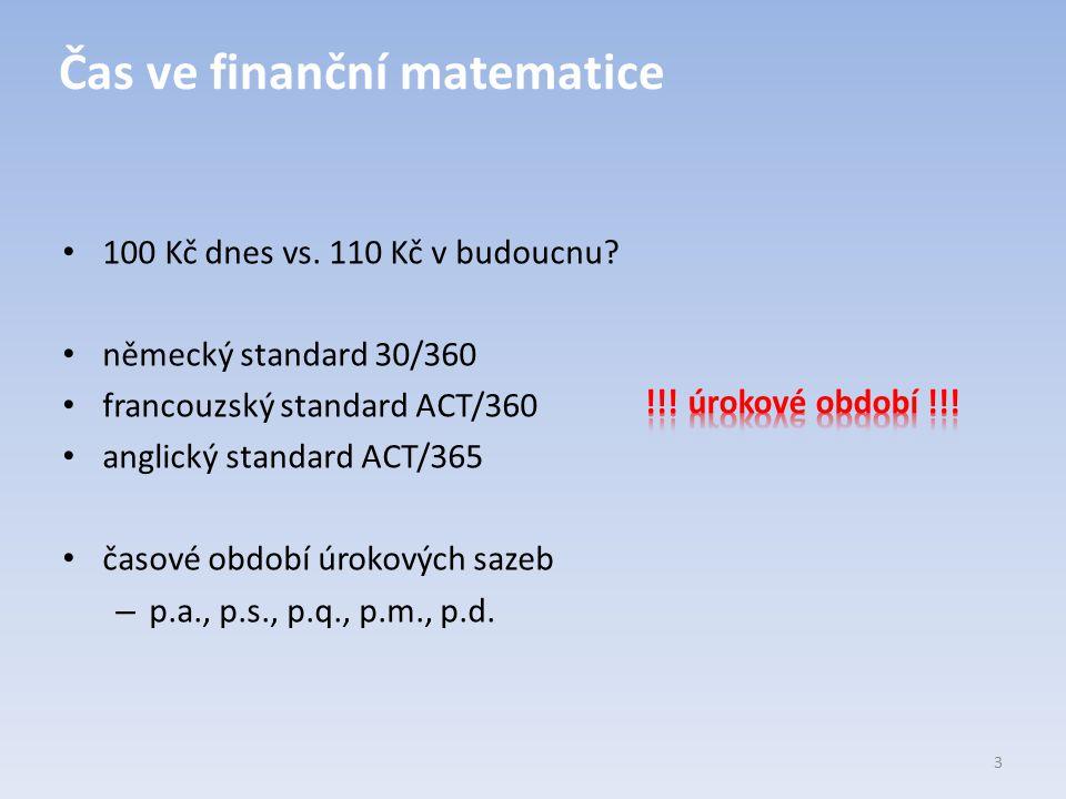 Čas ve finanční matematice