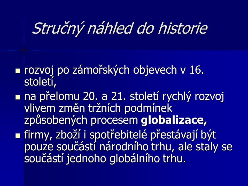 Stručný náhled do historie