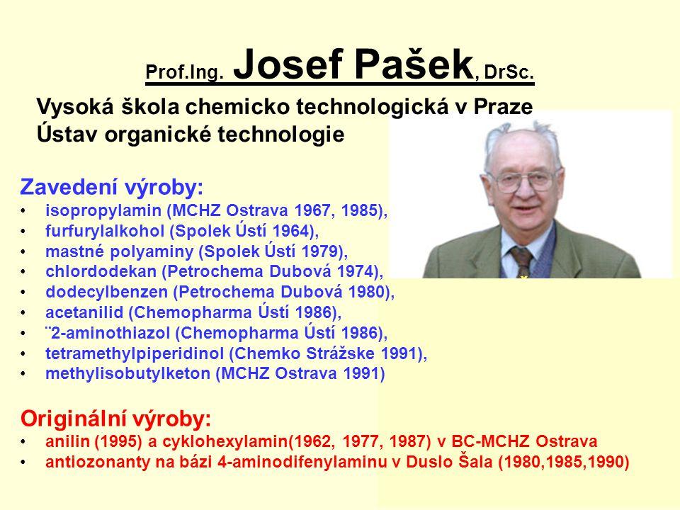 Prof.Ing. Josef Pašek, DrSc.