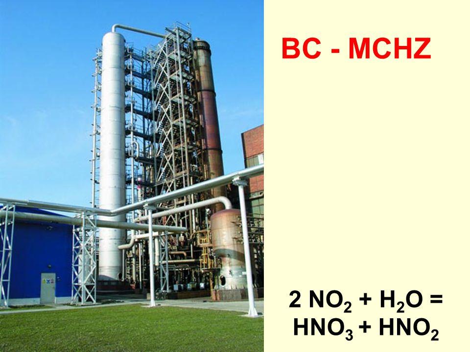 BC - MCHZ 2 NO2 + H2O = HNO3 + HNO2