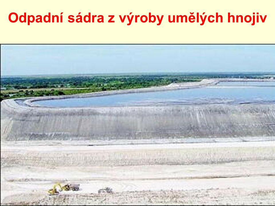 Odpadní sádra z výroby umělých hnojiv