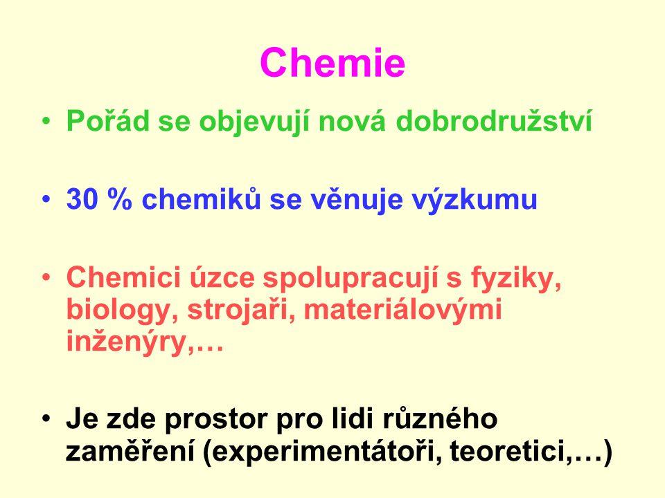 Chemie Pořád se objevují nová dobrodružství