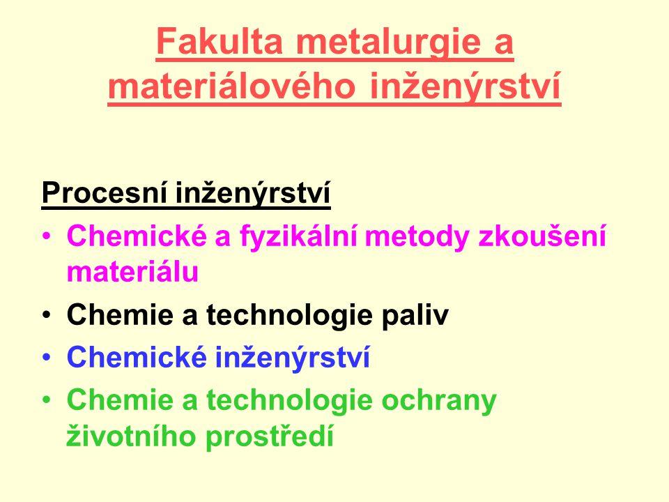 Fakulta metalurgie a materiálového inženýrství