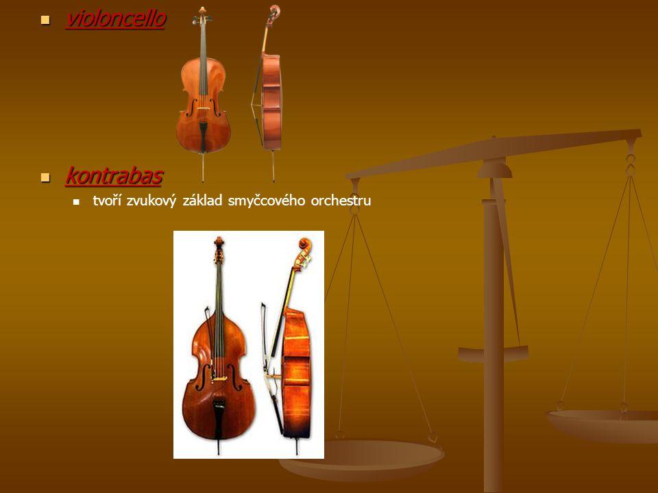 violoncello kontrabas tvoří zvukový základ smyčcového orchestru