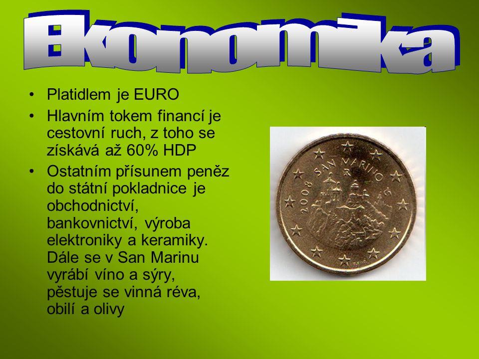 Ekonomika Platidlem je EURO