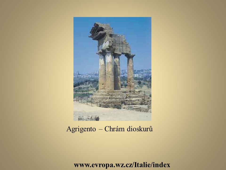 Agrigento – Chrám dioskurů