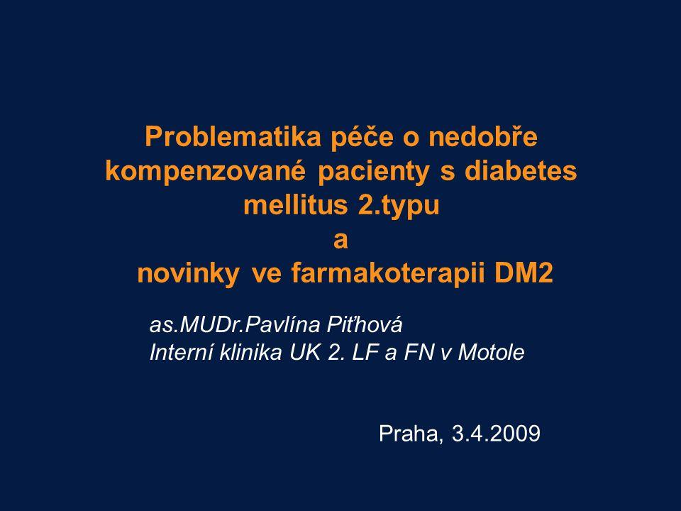 ANA 1197 Summary slides Problematika péče o nedobře kompenzované pacienty s diabetes mellitus 2.typu a novinky ve farmakoterapii DM2.