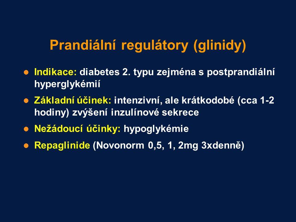 Prandiální regulátory (glinidy)