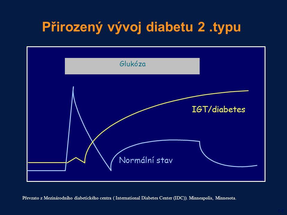 Přirozený vývoj diabetu 2 .typu