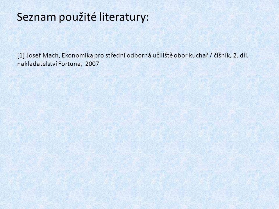 Seznam použité literatury: