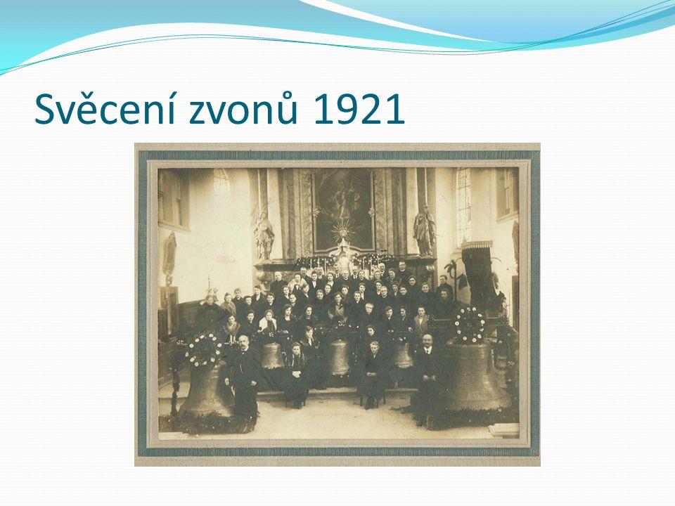 Svěcení zvonů 1921