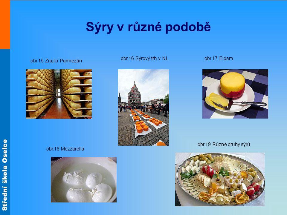 Sýry v různé podobě obr.16 Sýrový trh v NL obr.17 Eidam