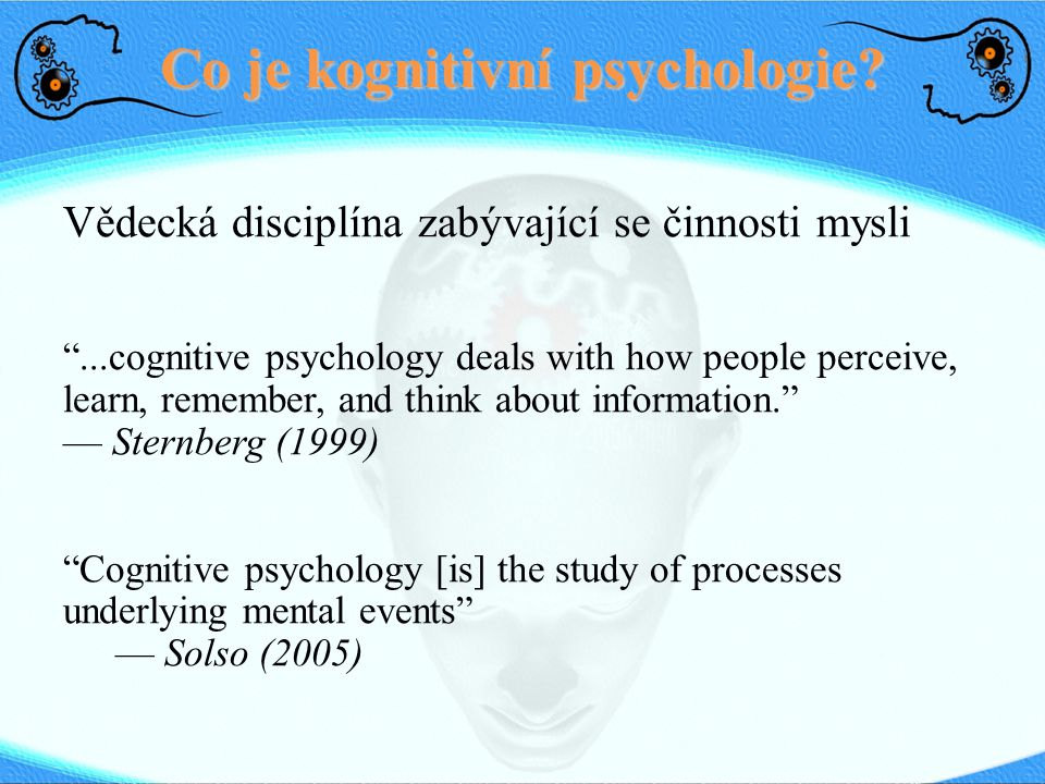 Co je kognitivní psychologie