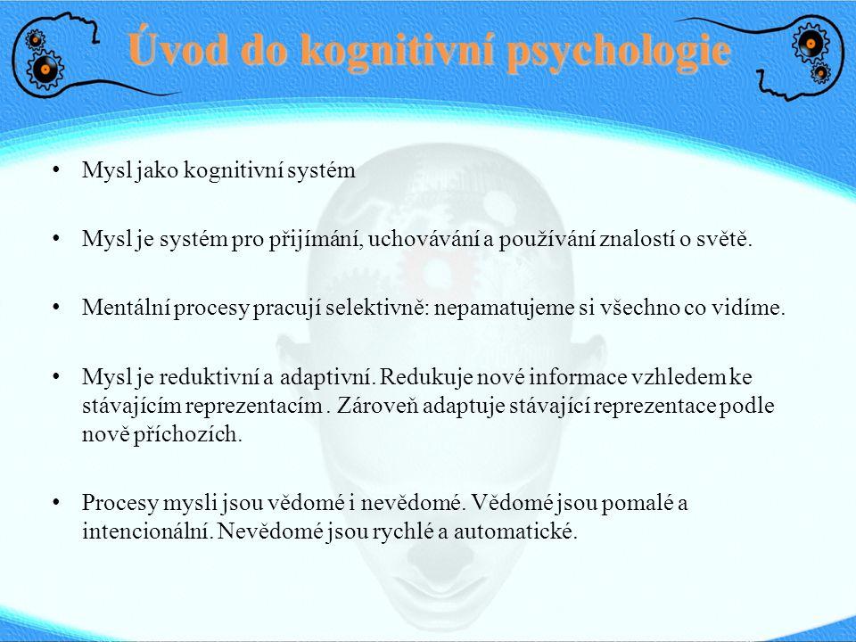 Úvod do kognitivní psychologie