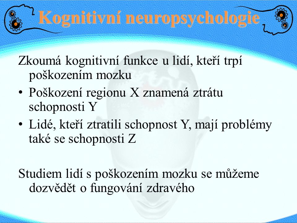 Kognitivní neuropsychologie