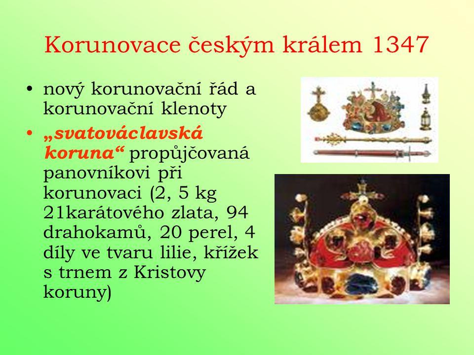 Korunovace českým králem 1347