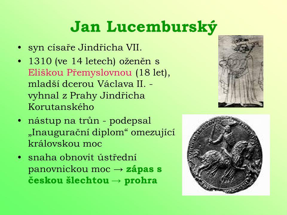 Jan Lucemburský syn císaře Jindřicha VII.