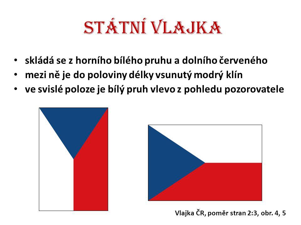 Státní vlajka skládá se z horního bílého pruhu a dolního červeného