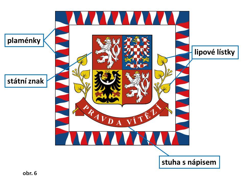plaménky lipové lístky státní znak stuha s nápisem obr. 6