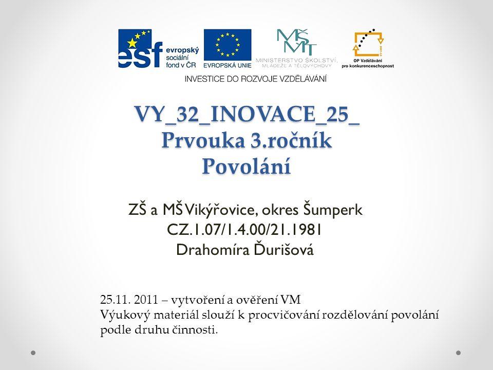VY_32_INOVACE_25_ Prvouka 3.ročník Povolání
