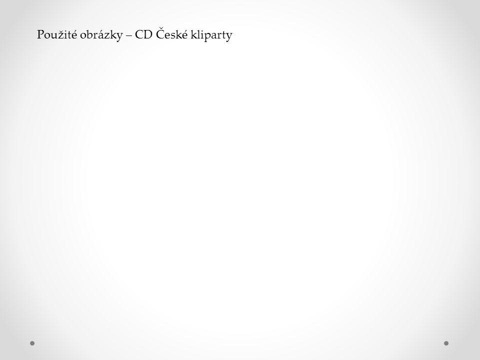 Použité obrázky – CD České kliparty