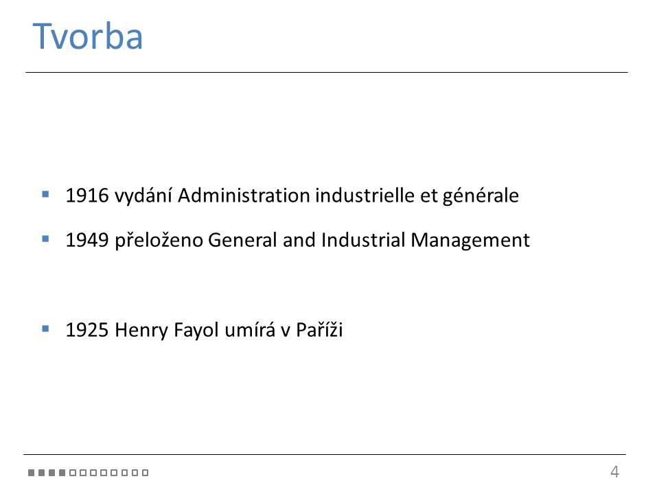 Tvorba 1916 vydání Administration industrielle et générale