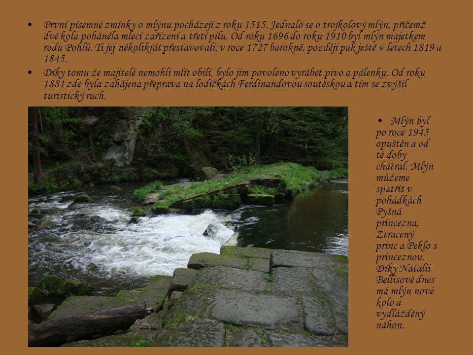 První písemné zmínky o mlýnu pocházejí z roku 1515