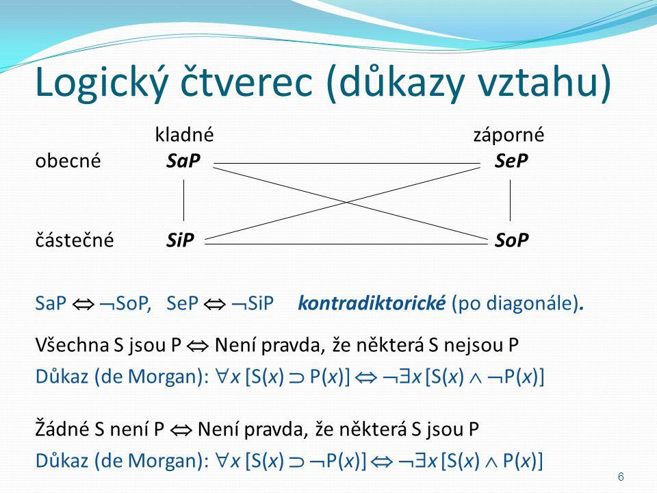 Logický čtverec (důkazy vztahu)