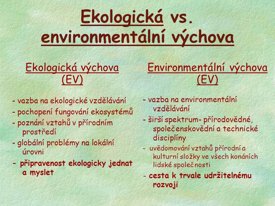 Ekologická vs. environmentální výchova