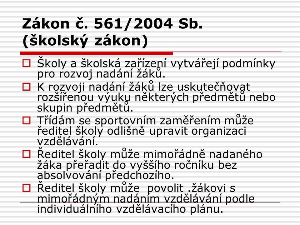 Zákon č. 561/2004 Sb. (školský zákon)