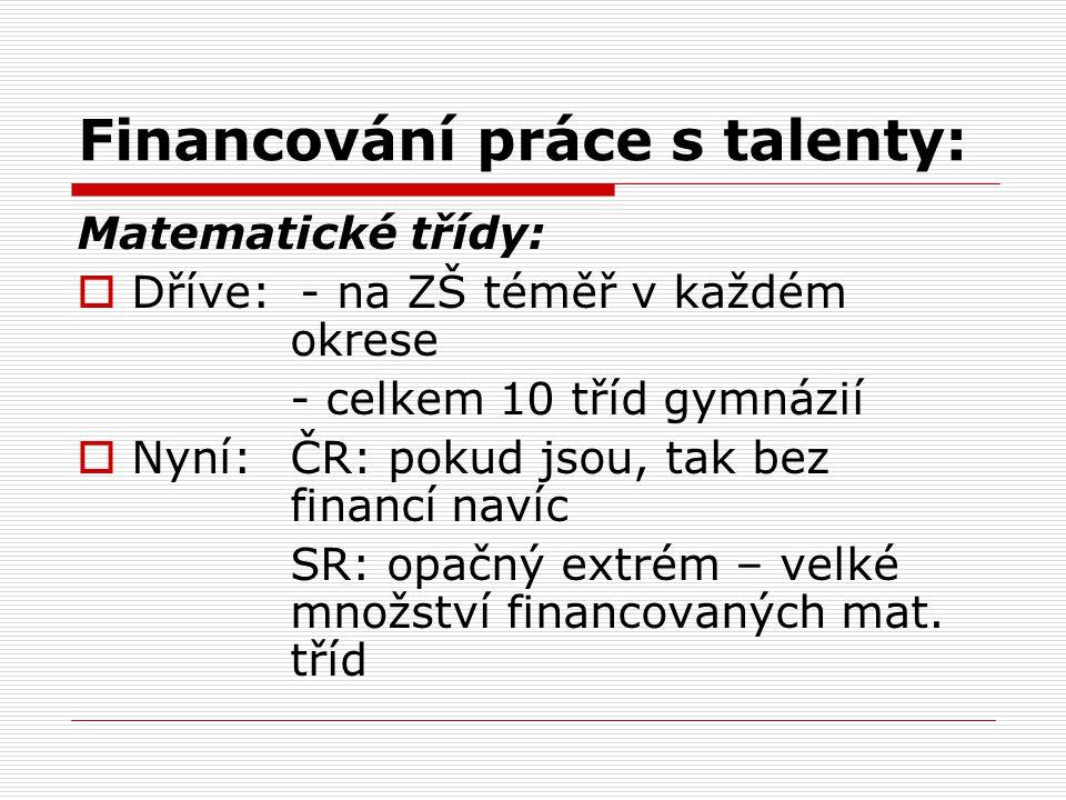 Financování práce s talenty: