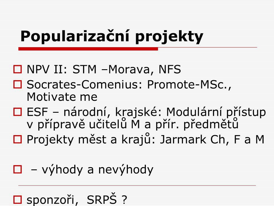 Popularizační projekty