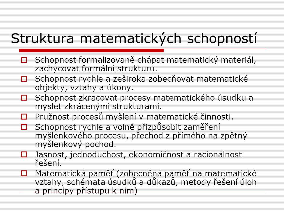 Struktura matematických schopností