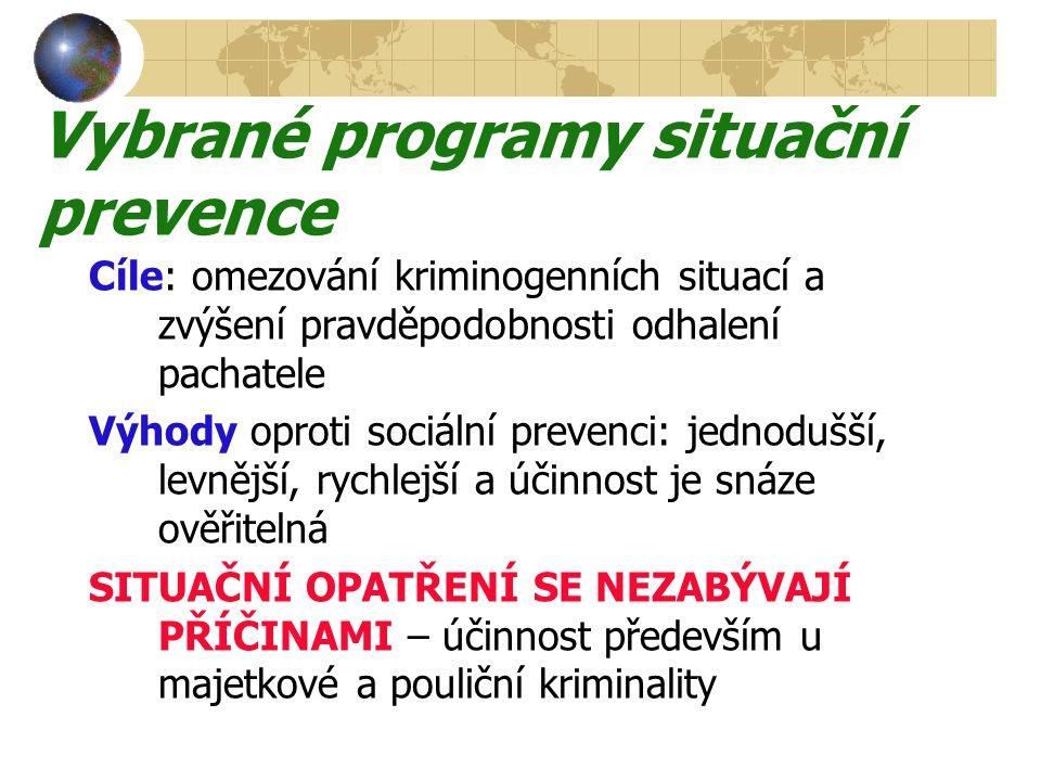 Vybrané programy situační prevence