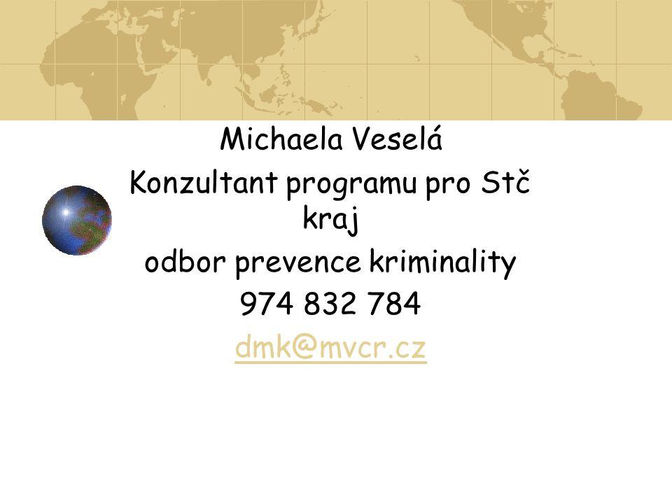 Konzultant programu pro Stč kraj odbor prevence kriminality