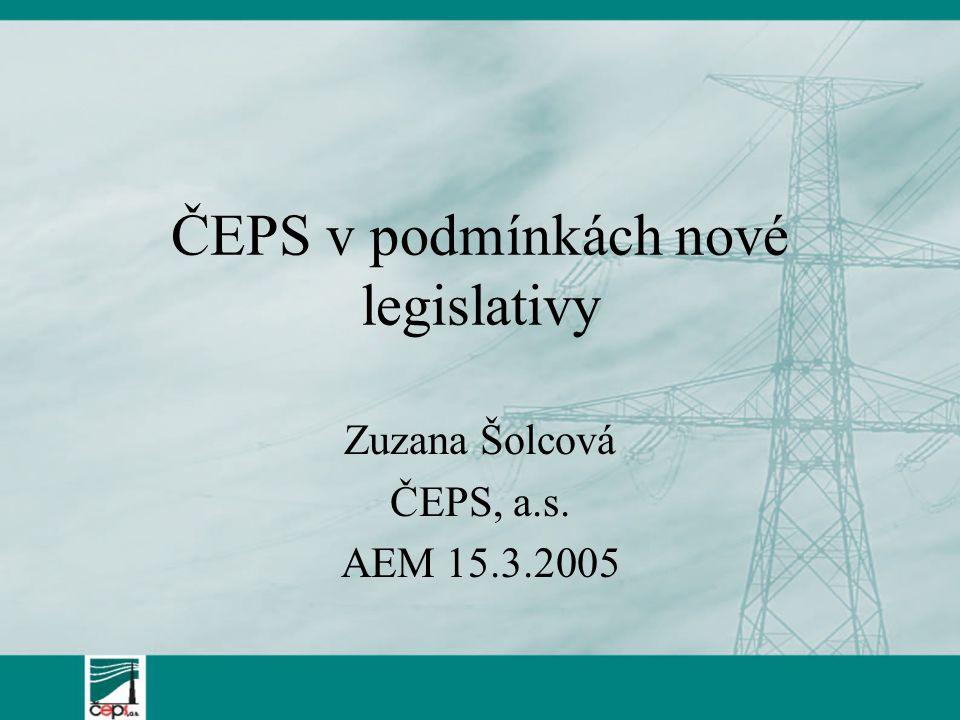 ČEPS v podmínkách nové legislativy
