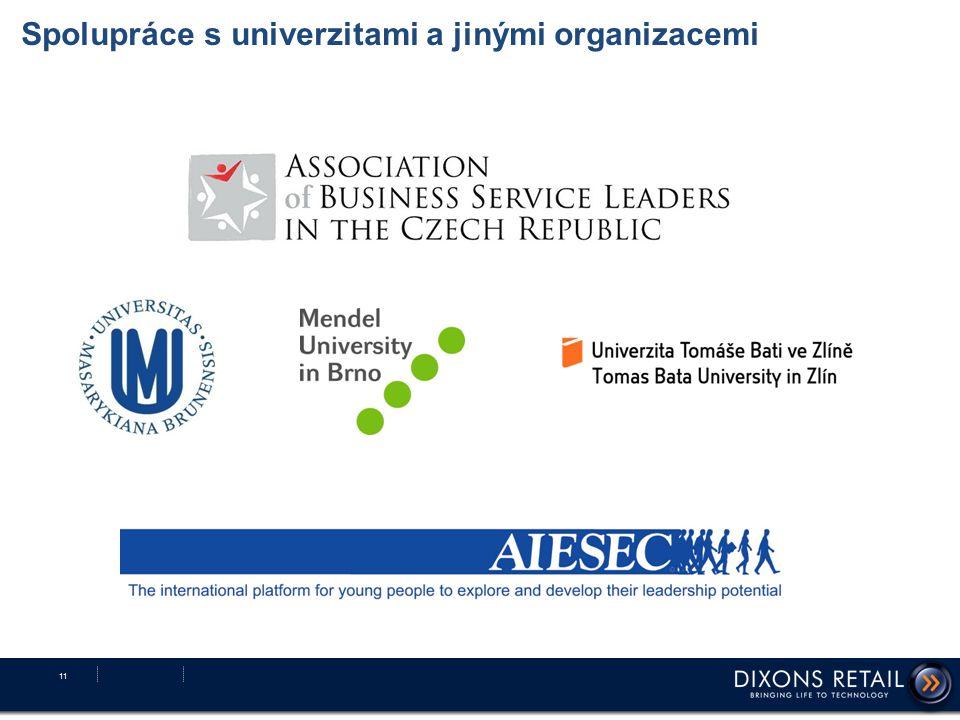 Spolupráce s univerzitami a jinými organizacemi