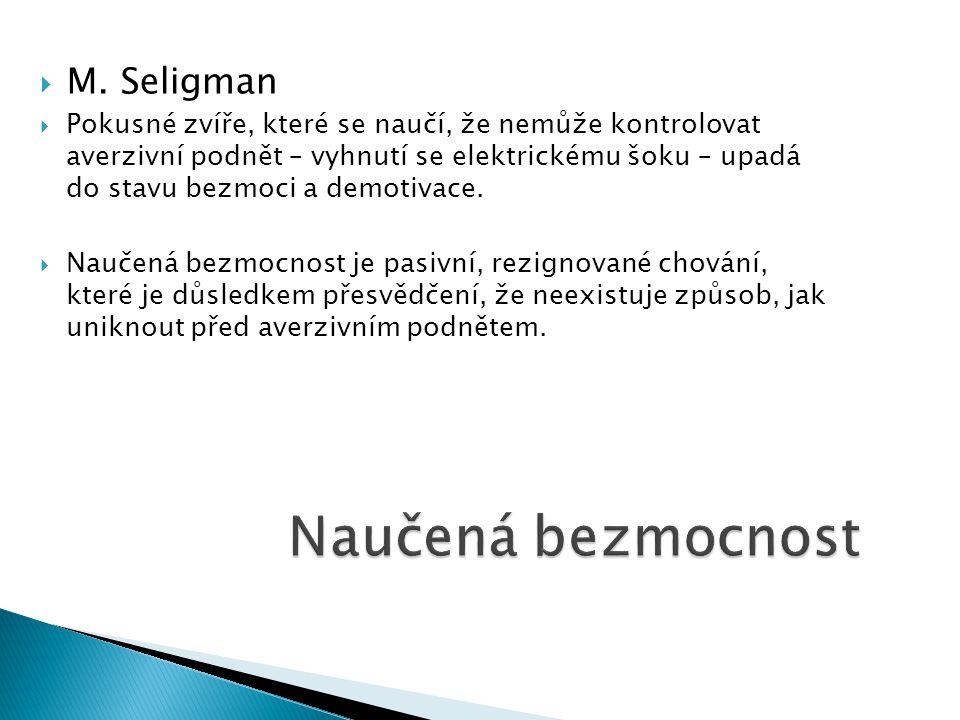 Naučená bezmocnost M. Seligman