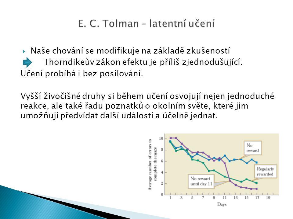 E. C. Tolman – latentní učení