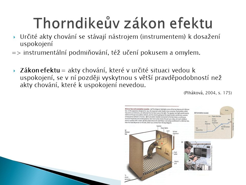 Thorndikeův zákon efektu