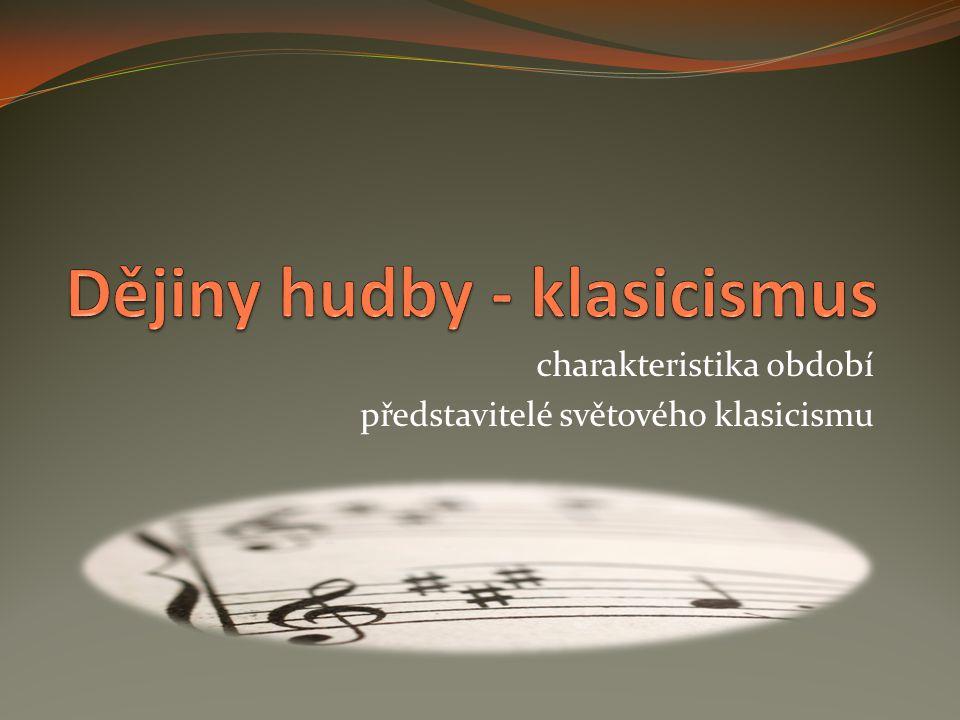 Dějiny hudby - klasicismus